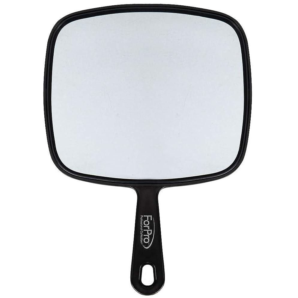 "ForPro Large Hand Mirror, Black, 9"" W x 12"" L"