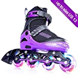 PAPAISON Sports Adjustable Inline Skates for Kids and Adults with Full Light Up