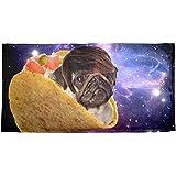 ewtretr Taco Dog Laserbeam Sublimated Plush Beach Towel 31.5'x51.2' Lightweight for Beach Gym Yoga