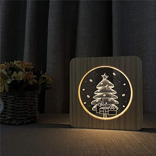 Weihnachtsbaum aus Holz Lichtschalter Tischlampe Kinderzimmer Dekoration schnitzen Kontrolllampe