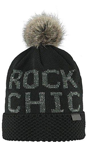 Bonnet a Pompon Ashley Barts chapeau a pompon (taille unique - noir)
