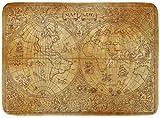 ECNM56B Doormats Bath Rugs Door Mat Vintage of Ancient Atlas Map World on Old Pirate Adventures Treasure Hunt and Transportation Graphic 15.8'x23.6'