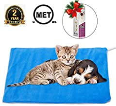 MARUNDA Pet Heating Pad,Cat Dog Electric Pet Heating Pad Indoor Waterproof,Auto Constant Temperature Warming 12x15 inches Bed with Chew Resistant Steel Cord