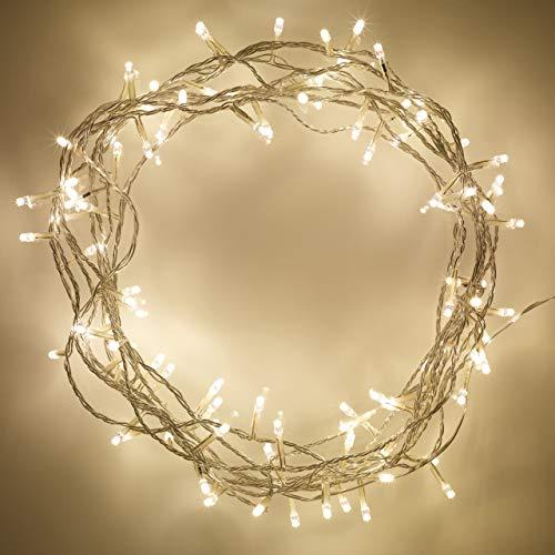 Lights4fun 100er LED Lichterkette warmweiß
