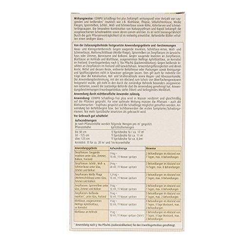 Compo schaedlings Libero Plus, Ampio Spettro Effetto Repellente per Insetti, ad Esempio Contro Insetti parassiti, Mosche Bianche, cocciniglie, Acari Spinning, 250ML
