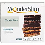 WonderSlim Meal Replacement Protein Bar - Low Carb Nutrition Bar for Women & Men - Variety Pack -...