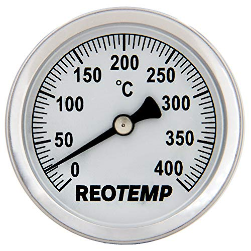 REOTEMP S1-C73 Magnetic Analog Surface Thermometer, 0 to 400 Celsius