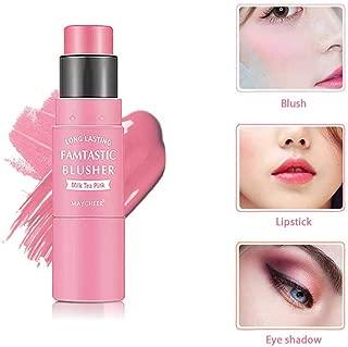 Blush Stick, LEEGOAL 3 in 1 Waterproof and Moisturizing Blush Makeup Stick for Cheek, Lip, Eye Shadow