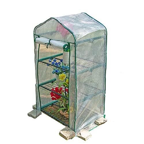 ZXXL Invernaderos Mini Invernadero Portátil con Balda/Cubierta PE Reforzada, Pequeña y Robusta Casa Verde para Vegetales de Flores en Macetas (Size : 69cm×49cm×128cm)