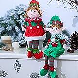 Elf Soft Plush Christmas Stuffed Toys,Long-Legged Elf Doll,Plush Stuffed Dolls for Girls,Cute Christmas Elf Plush Toys,Elf Soft Stuffd Toys,Christmas Party Favors,Holiday Décor(boy and Girl,48x16cm)