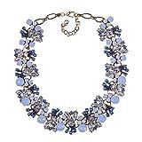 Gargantilla de piedras preciosas exageradas, collar de personalidad, accesorios para mujeres, mamá, joyería regalo