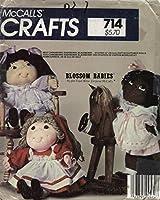 McCall's 8866 ソフトスカルプチャー人形 23インチ 服付き - ブロッサムベイビー - キャベツパッチ人形のようなフェイワイン クラフトパターン