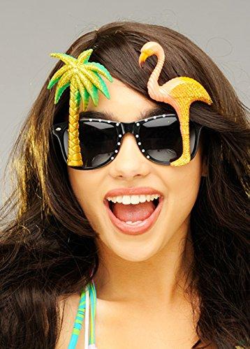 Delights Gafas de Sol del Flamenco de Las Mujeres Hawaianas del Brillo