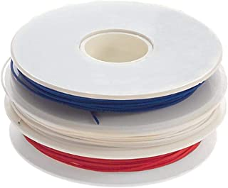 Jonard Tools R-30-TRI Red, White, Blue Insulated Kynar Copper Wire Roll, 30 AWG, 50 ft Length