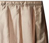 Carnation Home Fashions Lauren Dobby Fabric Sink Skirt, 56-Inch by 32-Inch, Linen