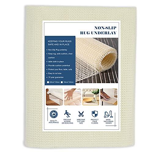 Multifunctionele grote antislipmat, 150 x 200 cm PVC rasterpatroon antislip grijper rol, waterdichte antislip voering mat voor tapijt grijper auto dakrek, thuis en kantoor