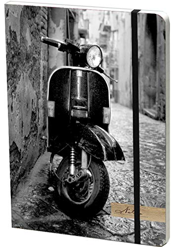 Elastic Journal Large: Italian Scooter