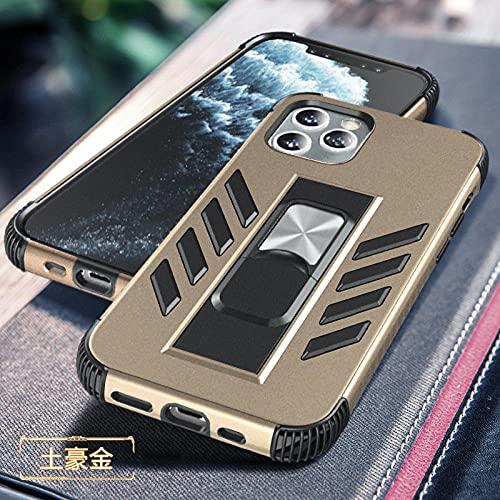 Adecuado para Apple iPhone12 soporte invisible funda de teléfono móvil 11pro max anti-caída todo incluido cubierta protectora -oro rosa