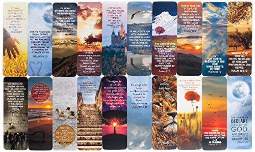 Livin Harmony Inspirational Spiritual Bible Bookmarks - Scripture Cards Religious Christian Bookmarks for Men & Women - Bulk Book Marks Pack for Students & Mothers Day Gift - Made in USA (20)