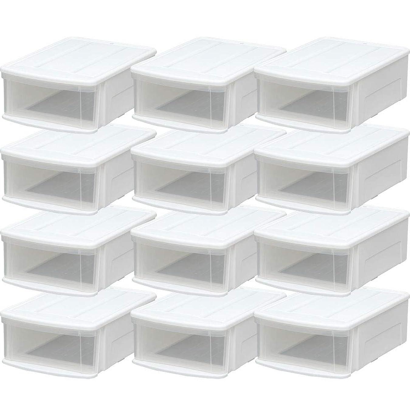 純正特定の事務所アイリスオーヤマ(IRIS) チェスト ホワイト M 幅37.6×奥行52.8×高さ19.7cm M 12個セット