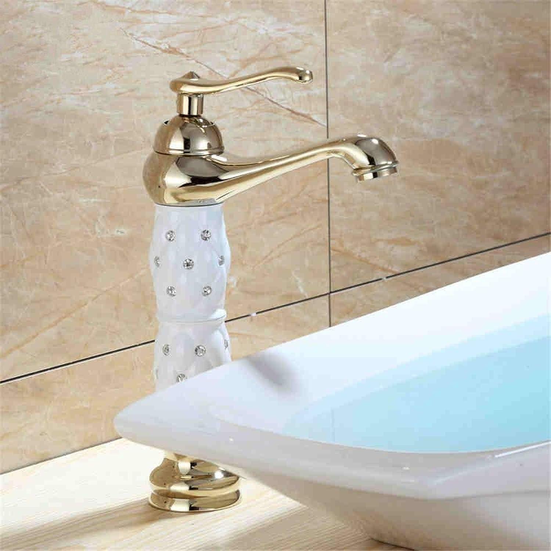 Wasserhahn Küche Waschbecken Badezimmer Wasserhahn Gold heies und kaltes Wasser Messing Einhebel Bad Mischbatterien