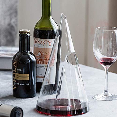 Chornlily Creative - Decantador de vino, diseño de pirámide de cristal, 350 ml/750 ml, hecho a mano para decantadores de whisky de brandy de vino