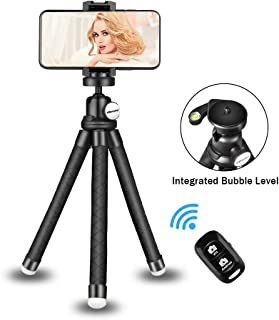 UBeesize Phone Tripod Stand, Portable Cellphone Camera Tripod with Bluetooth Remote, Compatible with iPhone and Android Phone, Great for Selfies/Vlogging/Streaming/Photography/Recording