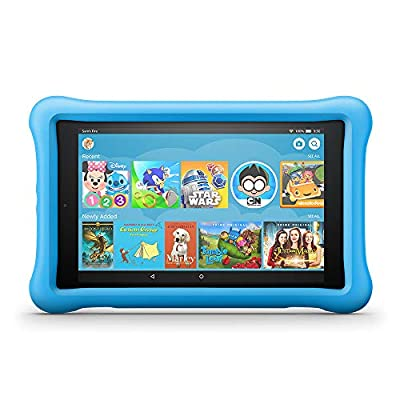 "Fire HD 8 Kids Edition Tablet, 8"" HD Display, 32 GB, Blue Kid-Proof Case (Previous Generation - 8th)"