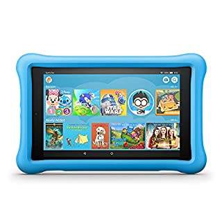 "Fire HD 8 Kids Edition Tablet, 8"" HD Display, 32 GB, Blue Kid-Proof Case (Previous Generation - 8th) (B078HQBS21) 