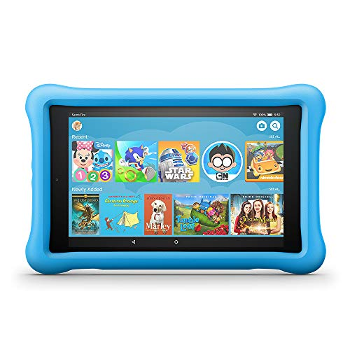 Product Image of the Fire HD 8 Kids Edition Tablet, 8' HD Display, 32 GB, Blue Kid-Proof Case...