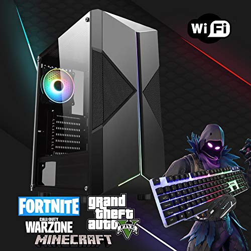 FAST Gaming Computer Core i5 Desktop PC Windows 10 Core i7 16GB Ram 1TB HDD & 480 SSD GTX1050Ti WIFI