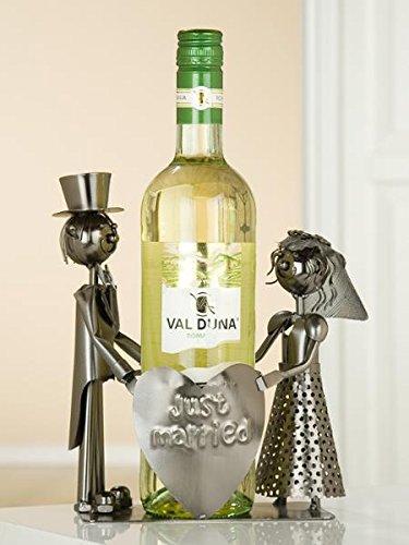 Gilde Flaschenhalter Weinflaschenhalter Hochzeitsgeschenk - 'Just Married'