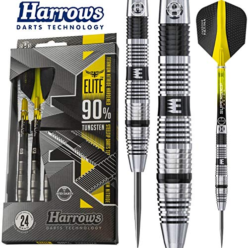 Harrows Unisex-Adult Elite 90 Dart Steel, 22g