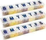 Organizzatore settimanale per pillole – Agenda per 7 giorni per pillole extra large e organizer giornaliero per pillole e promemoria medicinali, con scomparti dal lunedì alla domenica