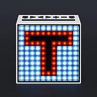 GAOLILI ワイヤレスBluetoothスマートピクセルスピーカーアラームクロックポータブルスピーカー (色 : F f)