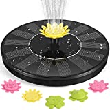 Auka Solar Fountain Pump, Solar Powered Fountain Pump, 2021 Upgrade 1.4W Free Standing Floating Water Fountain with 5 Nozzles, Outdoor Watering Submersible Pump for Pond, Pool, Garden, Outdoor