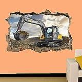 UYEDSR Adesivo murale Macchinari Pesanti Escavatore Escavatore Adesivo murale Trasferimento Adesivo murale Poster 50x70cm