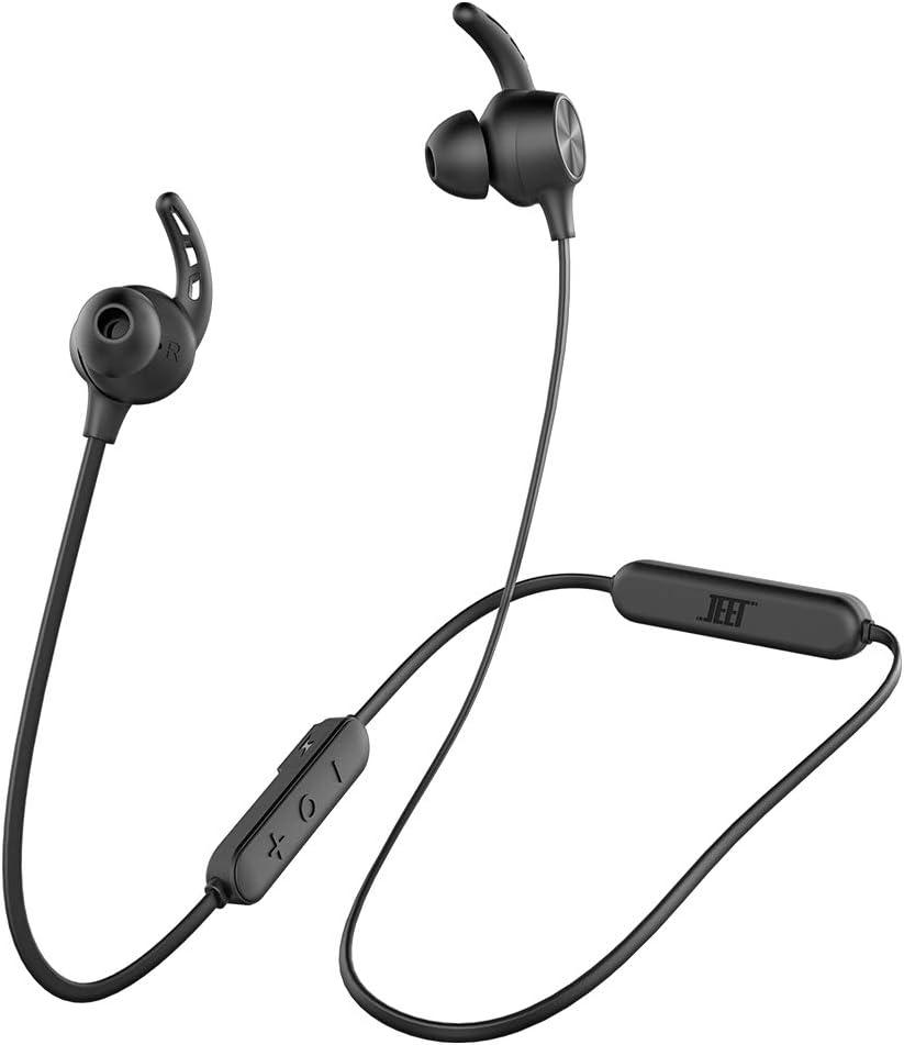 Bluetooth Wireless Headphones JEET aptX-Hi-Fi Stereo Sound Neckband Bluetooth Sports Headphones Noise Cancellation Mic Waterproof Magnetic Secure Fit Sports Earphones for Samsung iPhone Xiaomi Huawei