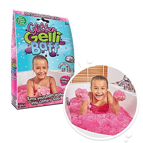 Zimpli Kids 5368 Pink Turn water into colourful goo Certified Biodegradable Toy, Glitter Gelli Baff