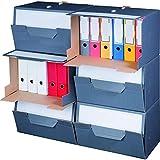 karton-billiger Archivbox für Ordner mit Frontklappe für bis zu 6