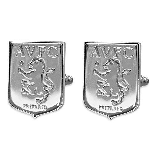 Aston Villa FC officiel - Boutons de manchette - thème football - chromé/élégant
