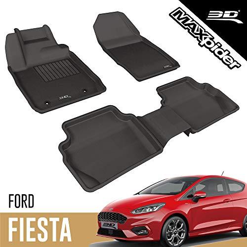 3D MAXpider Allwetter Fussmatten für Ford Fiesta 2011-2017 Passgenaue Fußmatten Auto Gummi Matten Gummimatten