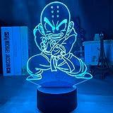 Anime colorido dragon ball super LED luz de noche para niños lámpara de decoración de dormitorio para niños dragon ball z lámpara de mesa regalo