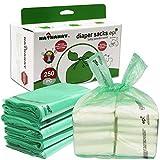sac à couches Lot de 250 sacs à couches jetables avec parfum poudre de bébé