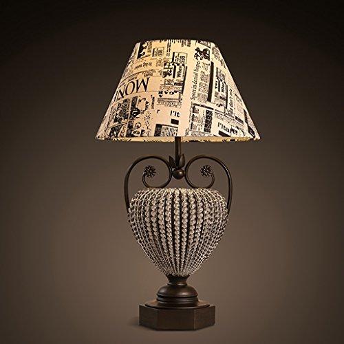 MXXDD Candelabros de Techo Lámpara de Escritorio Loft E27 Lámpara de Mesa Retro Lámpara de Cama de Dormitorio British Wind Cactus Living Room Estudio Lámpara Decoración