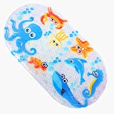 ILIKY Baby Children Shower Mat Non Slip for Kids with Suction Cups