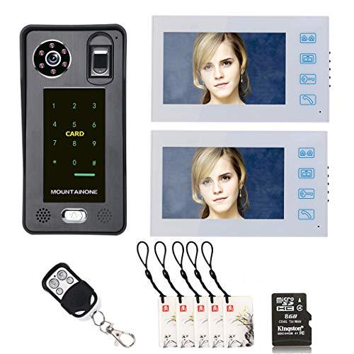 Sistema de intercomunicador con timbre de videoportero, interfono con 7 pulgadas, 2...