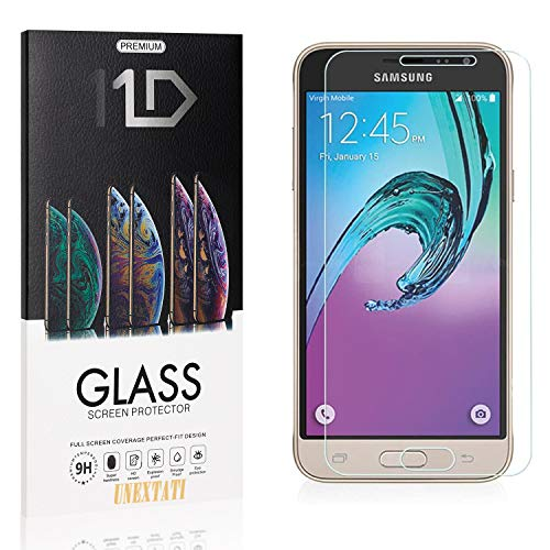 4 Pack Screen Protector for Samsung Galaxy J2 2016, UNEXTATI Bubble Free HD Clear Tempered Glass Film, Case Friendly