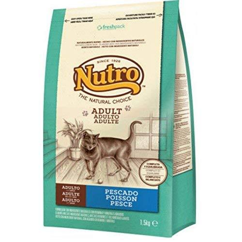 Nutro - Comida para gatos adultos, pescado, 1.5 kg