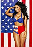 Refosian Poster New Nicki Minaj Rap Sexy USA Flagge Musik